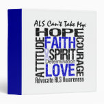 ALS Can't Take My Hope Collage 3 Ring Binder