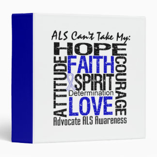 ALS Can't Take My Hope Collage 3 Ring Binders