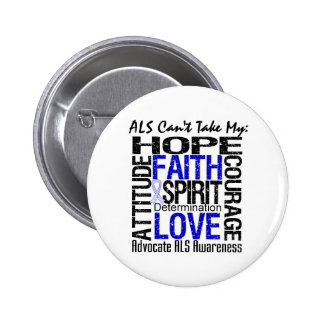ALS Can't Take My Hope Collage Pins