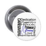 ALS Caregivers Collage Pinback Button