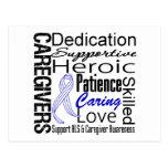 ALS Caregivers Collage Postcard