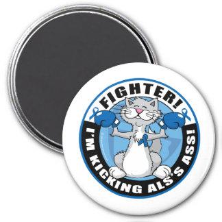 ALS Cat Fighter 3 Inch Round Magnet