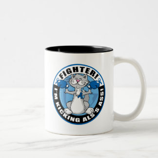 ALS Cat Fighter Two-Tone Coffee Mug