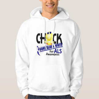 ALS Chick Gone Blue And White 2 Hoodie