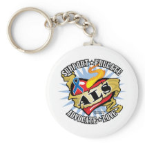 ALS Classic Heart Keychain