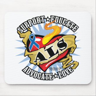 ALS Classic Heart Mouse Pad