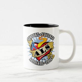 ALS Classic Heart Two-Tone Coffee Mug