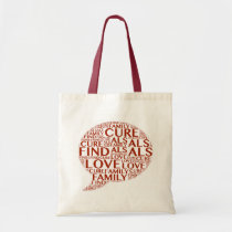 als, cure, tote, bag, disease, faith, hope, love, mother, father, dad, daddy, Bag with custom graphic design