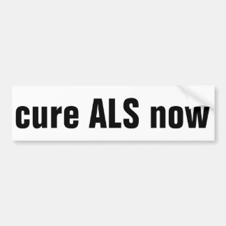 ALS de la curación ahora Pegatina Para Auto