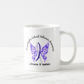 ALS de la mariposa 6,1 del tatuaje del Grunge Taza De Café