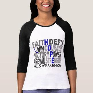 ALS del collage de la palabra de la esperanza Camisetas