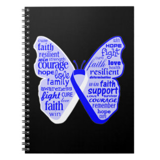 ALS Disease Awareness Butterfly Ribbon Spiral Notebooks