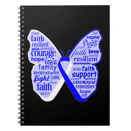 ALS Disease Awareness Butterfly Ribbon Spiral Notebooks