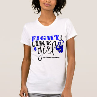 ALS Disease Awareness Fight Like a Girl T Shirts