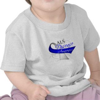 ALS Disease Awareness Ribbon T-shirt