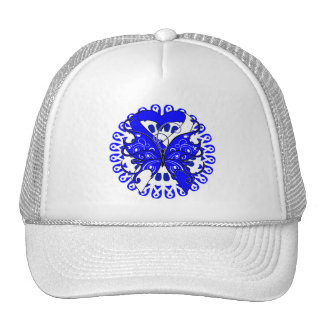 ALS Disease Butterfly Circle of Ribbons Trucker Hat