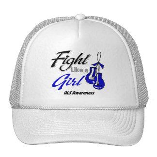 ALS Disease - Fight Like a Girl Trucker Hat