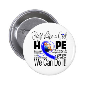 ALS Disease Fight We Can Do It Pinback Buttons