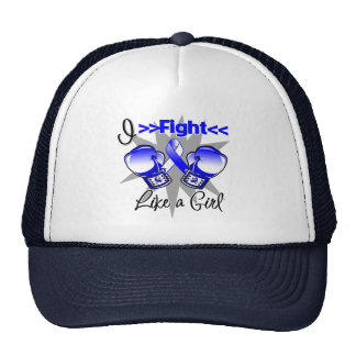 ALS Disease I Fight Like a Girl With Gloves Trucker Hat