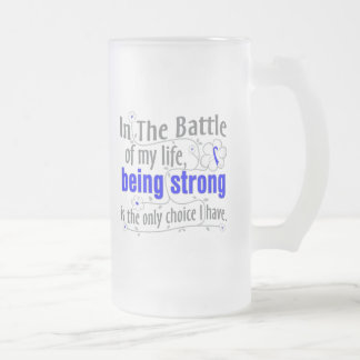 ALS Disease In The Battle 16 Oz Frosted Glass Beer Mug