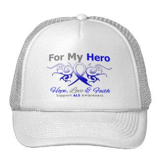 ALS Disease Tribal Ribbon Hero Trucker Hat