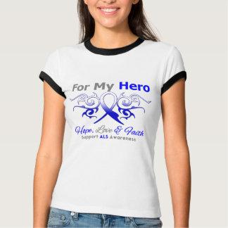 ALS Disease Tribal Ribbon Hero Shirts