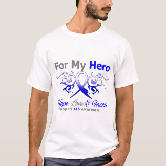 ALS Disease Tribal Ribbon Hero T-Shirt