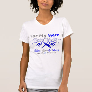 ALS Disease Tribal Ribbon Hero Tees