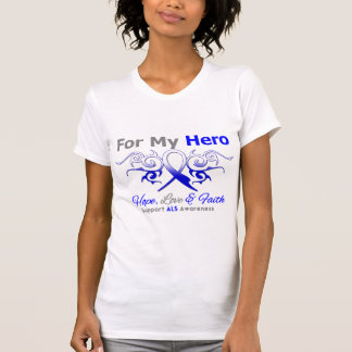ALS Disease Tribal Ribbon Hero Shirt