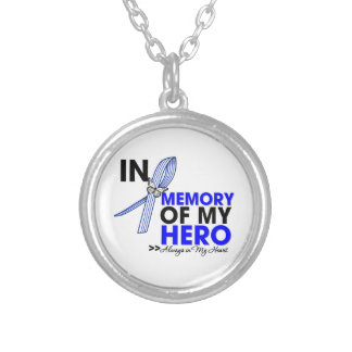 ALS Disease Tribute In Memory of My Hero Round Pendant Necklace