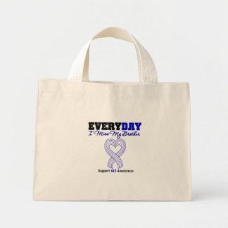 ALS Every Day I Miss My Brother Mini Tote Bag