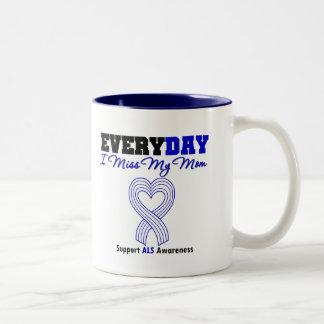 ALS Every Day I Miss My Mom Two-Tone Coffee Mug