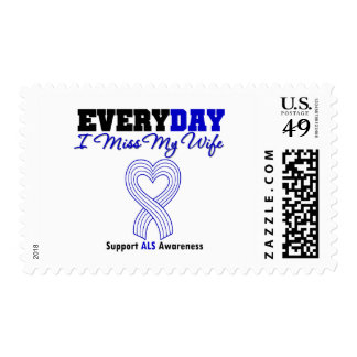 ALS Every Day I Miss My Wife Postage Stamp