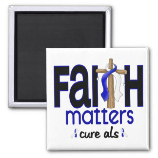 ALS Faith Matters Cross 1 2 Inch Square Magnet
