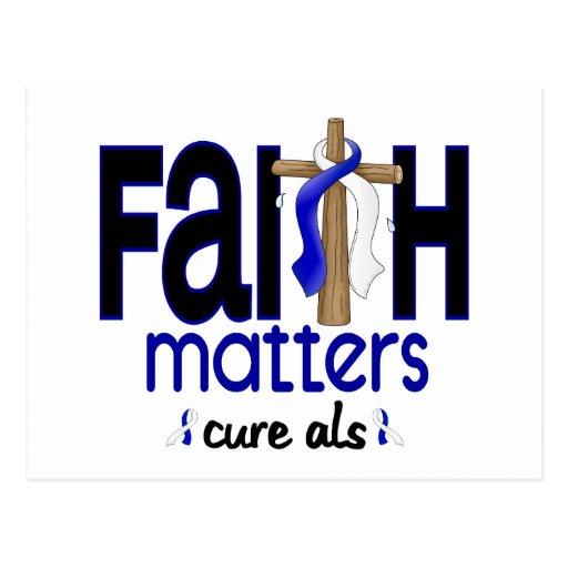 ALS Faith Matters Cross 1 Postcard