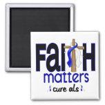 ALS Faith Matters Cross 1 Refrigerator Magnet
