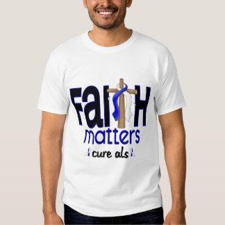 ALS Faith Matters Cross 1 T Shirt
