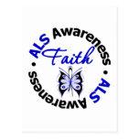 ALS Faith Scripted Butterfly Postcard