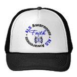 ALS Faith Scripted Butterfly Trucker Hat