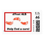 als feet, Help find a cure!,   d'Feet ALS Postage Stamps