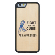 ALS: Fight for the Cure Carved Maple iPhone 6 Bumper Case