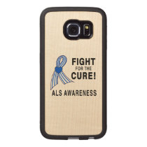 ALS: Fight for the Cure Wood Phone Case