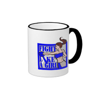 ALS Fight Like A Girl Boxer Ringer Coffee Mug