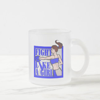 ALS Fight Like A Girl Boxer 10 Oz Frosted Glass Coffee Mug