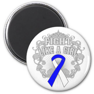 ALS Fight Like A Girl Fleurish 2 Inch Round Magnet