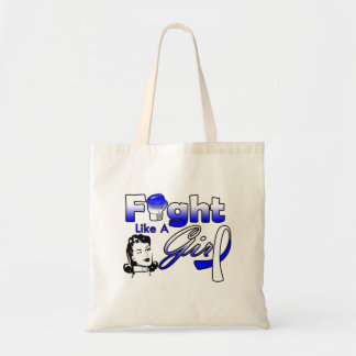 ALS Fight Like A Girl - Retro Girl Budget Tote Bag