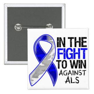 ALS - Fight To Win 2 Inch Square Button