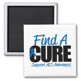 ALS Find A Cure 2 Inch Square Magnet