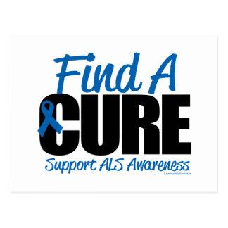 ALS Find A Cure Postcard