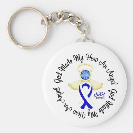 ALS God Made My Hero An Angel Basic Round Button Keychain